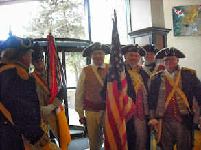 Photo: Assembly of the combined Color Guard of Great Lakes District