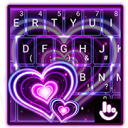 App Sparkling Purple Heart Keyboard Theme APK for Windows Phone