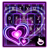 Sparkling Purple Heart Keyboard Theme