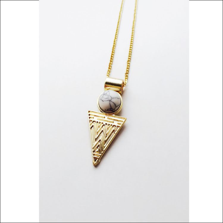 N032 - G. Casual Geometric Mix Necklace by House of LaBelleD.
