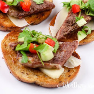 Steak Bruschetta Appetizer Recipes