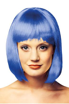 Peruk girly, blå