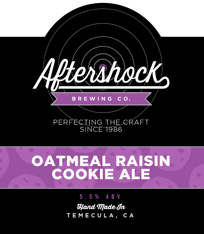 Logo of Aftershock Oatmeal Raisin Cookie Ale