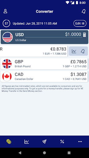 Xe Currency Converter Money Transfers Pro