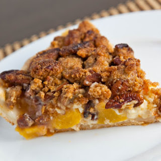 Peach and Maple Sour Cream Pecan Pie