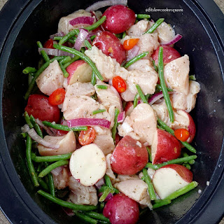 Slow Cooker Greek Marinaded Chicken & Potatoes