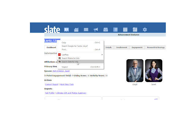Right-click to search Slate - by Lloyd