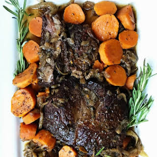 Best Slow Cooker Sweet Potato Roast Beef Dinner.