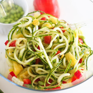 Cucumber Pineapple Salad with Edamame, Red Peppers and Pineapple Vinaigrette Recipe