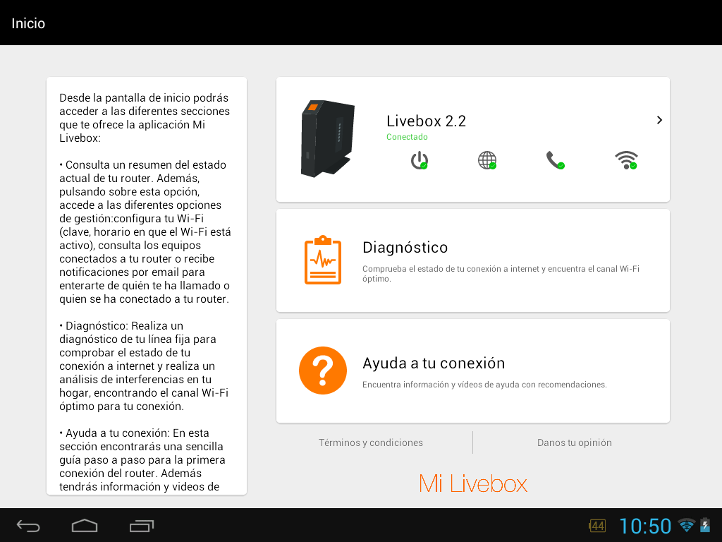 Mi Livebox- screenshot