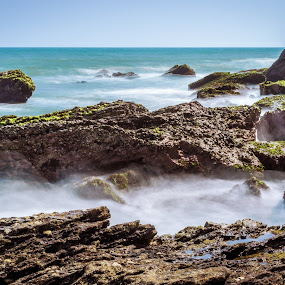 by Murthy Putrevu - Landscapes Waterscapes ( #rocks #beach #waves #longexposure )