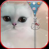 Kitty Zipper Lock