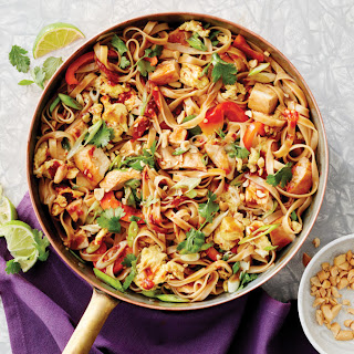 Saucy Skillet Pad Thai with Chicken.