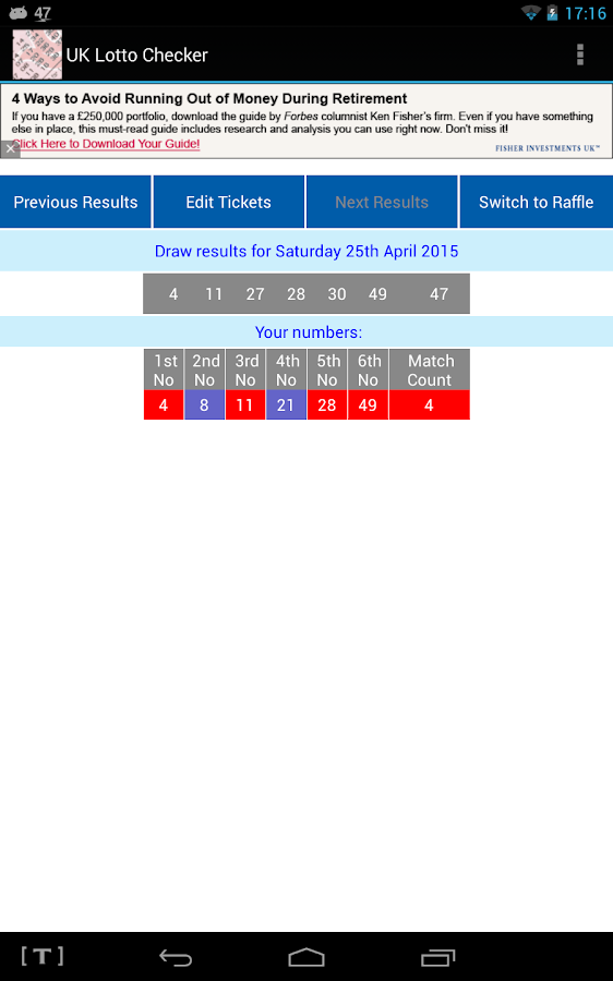 UK Lotto Checker- screenshot