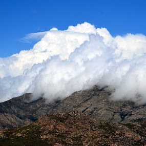blanket over mountain by Gerhard Conradie - Landscapes Cloud Formations