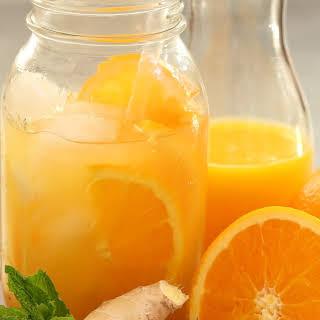 Iced Orange Ginger Green Tea.