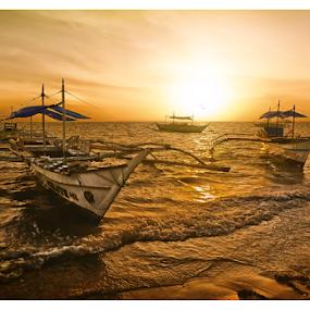 The Fishing Boats by Ferdinand Ludo - Transportation Boats ( lovely 2015, sunrise catch, small to medium fishing boats, bantayan island, #GARYFONGDRAMATICLIGHT, #WTFBOBDAVIS,  )