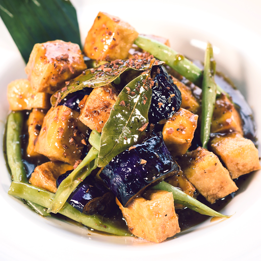 Tofu, Green Beans & Eggplant Adobo Rice Combo