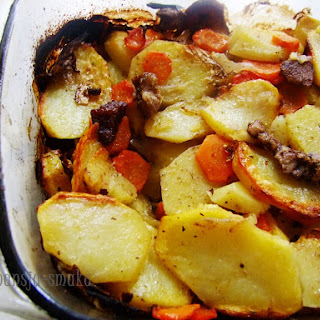 Potato Casserole As The Cauldron