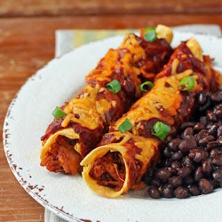 Barbecue Chicken Enchiladas