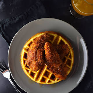 Spicy Fried Chicken and Waffles.