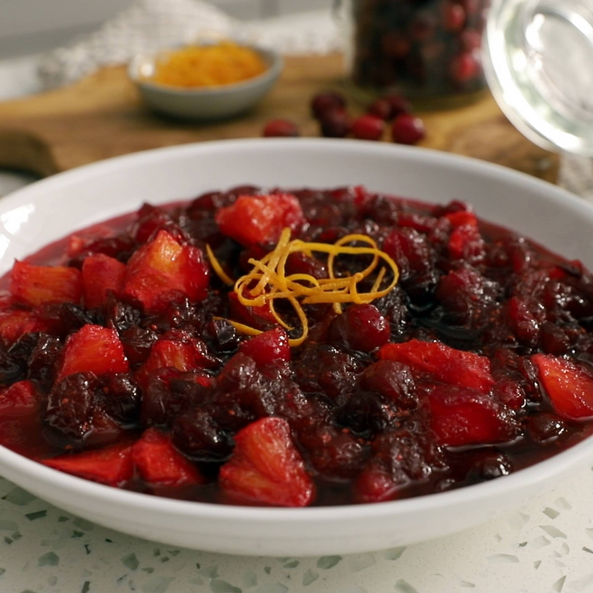 Homemade Citrus Cranberry Sauce Recipe Yummly