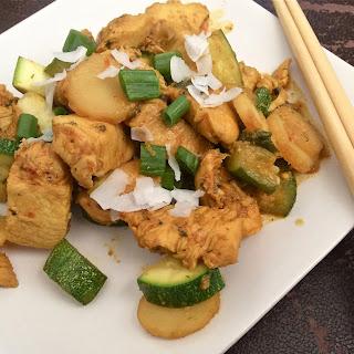 Spicy Chicken and Zucchini Stir Fry