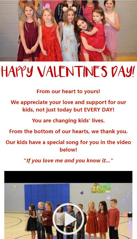 ValentineToDonorsBoysGirlsClubOfMauryCounty