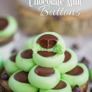 Chocolate Mint Cream Cheese Buttons.