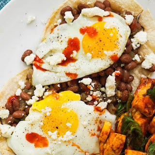 Huevos Rancheros with Spicy Pinto Beans