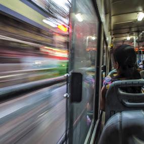 Duality by Shibasish Saha - Transportation Other ( pannig, people, motion blur )