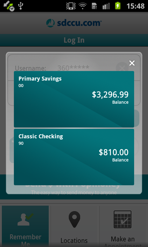 SDCCU Mobile Banking- screenshot