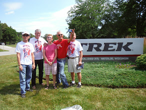 Photo: Trek Factory Tour with Tom's wife's cousin Sharon and her husband Tom