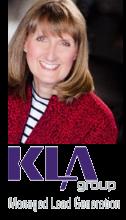 Kendra Lee with KLA Group logo
