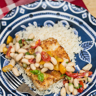 Pork Scallopini with White Bean-Tomato Salad.