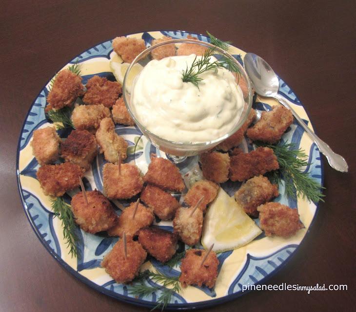 Crispy Salmon Bites with Homemade Tartar Sauce #SundaySupper Recipe