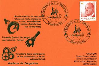Photo: Matasellos del 200 aniversario del fallecimiento del fundador de la fábrica de Sargadelos