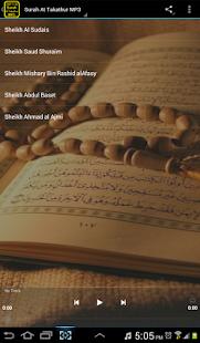 Surah At Takathur MP3 - náhled