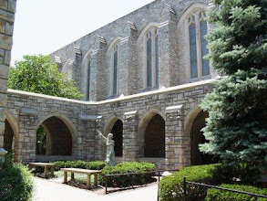 Photo: The courtyard at St. Peter's