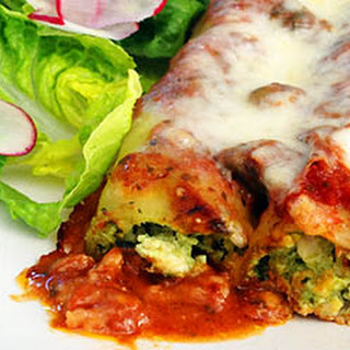 Chicken And Basil Cannelloni.