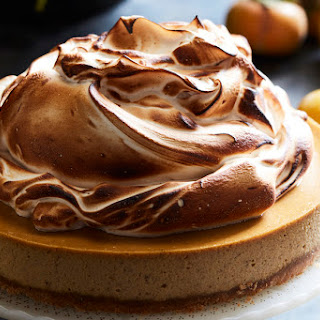 Pumpkin Cheesecake with Marshmallow Meringue.
