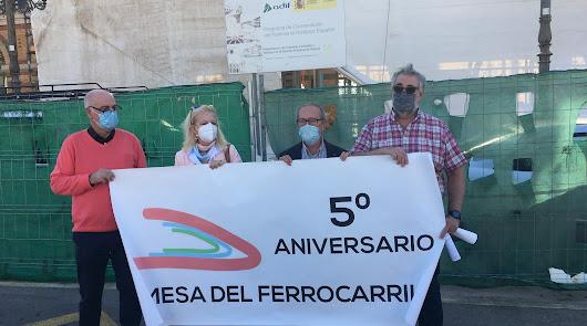 """Mesa del Tren: """"Hasta el Gobierno dice que el AVE llegará a Almería en 2026"""""""