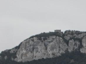 Photo: Chapelle Sant Joan de Bossols zoomée, sur la serra de Corsavell