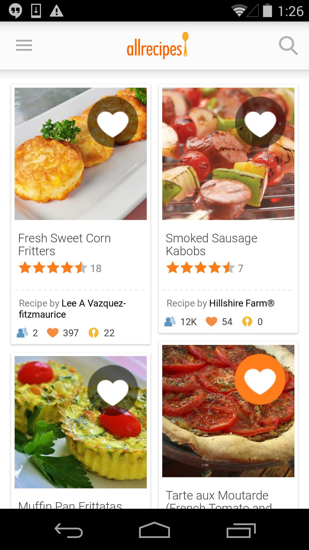 Allrecipes Dinner Spinner screenshot #1