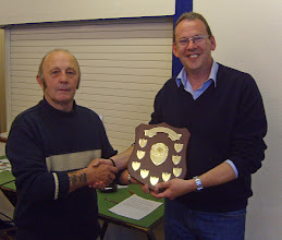 Photo: SHRADS Eddie Masters Memorial Shield - Clubman of the year - Nick Keeler (on right) presented by Vic Francis