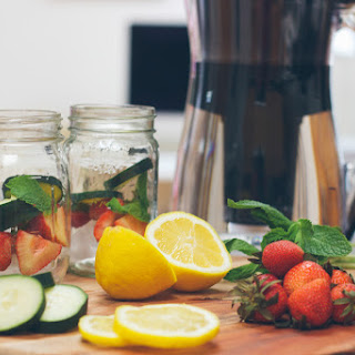 Strawberry Cucumber Mint Water.