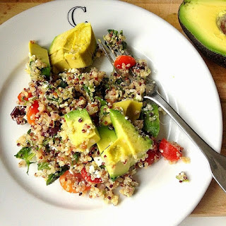 Favorite Quinoa Salad w/ Marcona Almonds, Arugula & Feta.