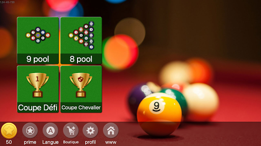bille 9 en ligne -  jeu de billard gratuit  screenshots 1