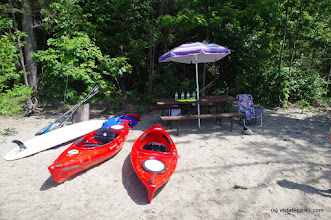 Photo: Nice spot and gear at the beach at Niquette Bay State Park by Jessica Clarke