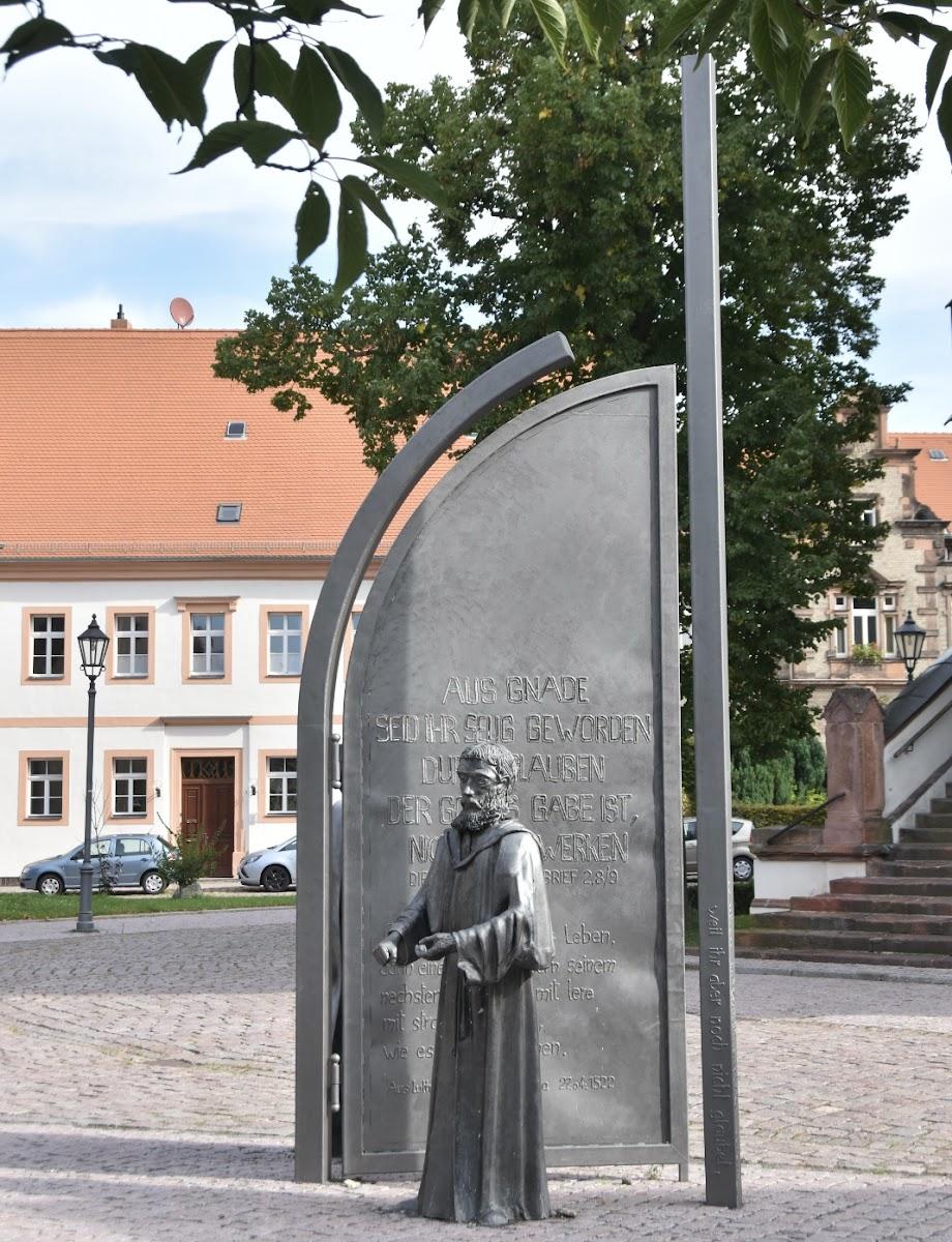 Lutherdenkmal am Lutherweg